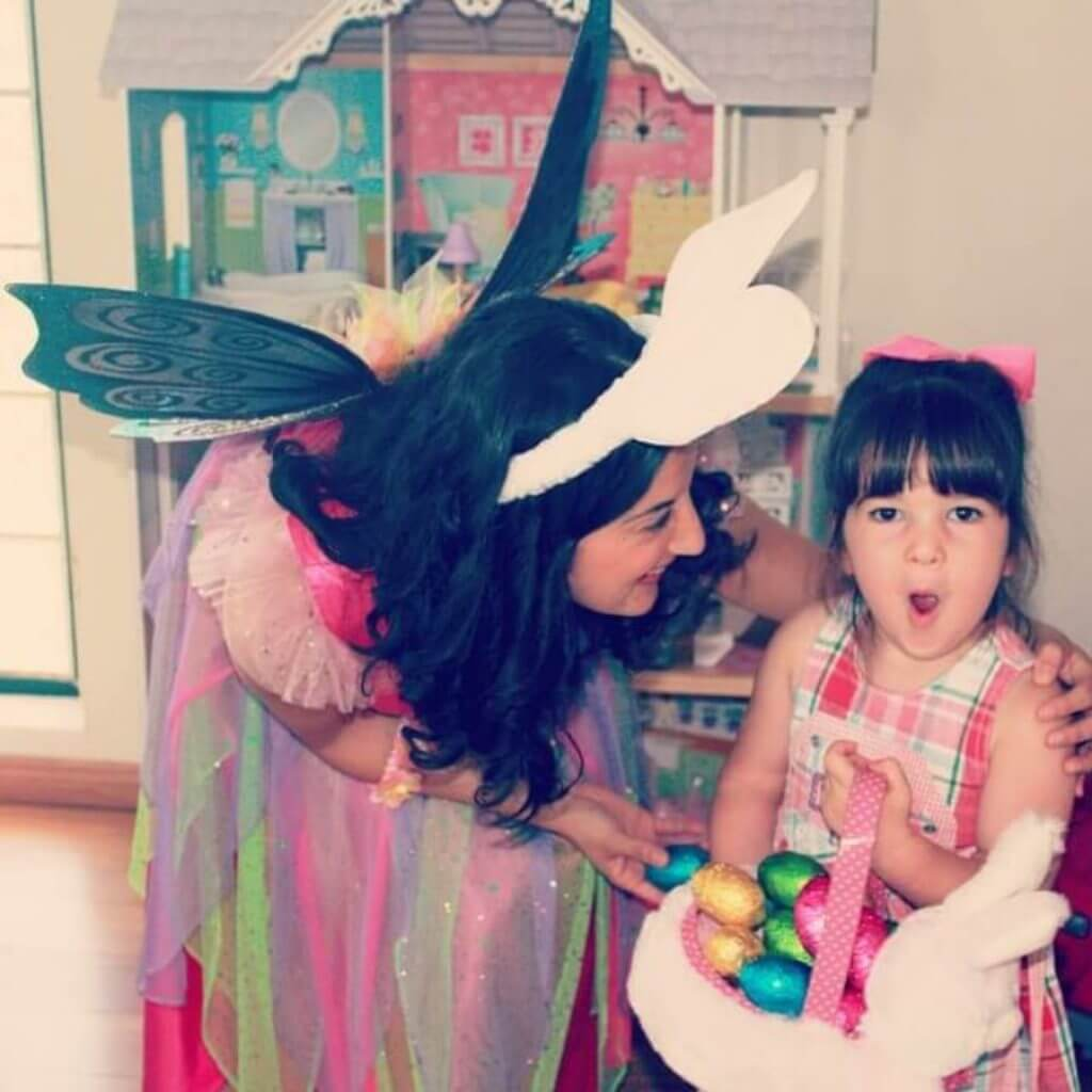 Easter Fairy with child