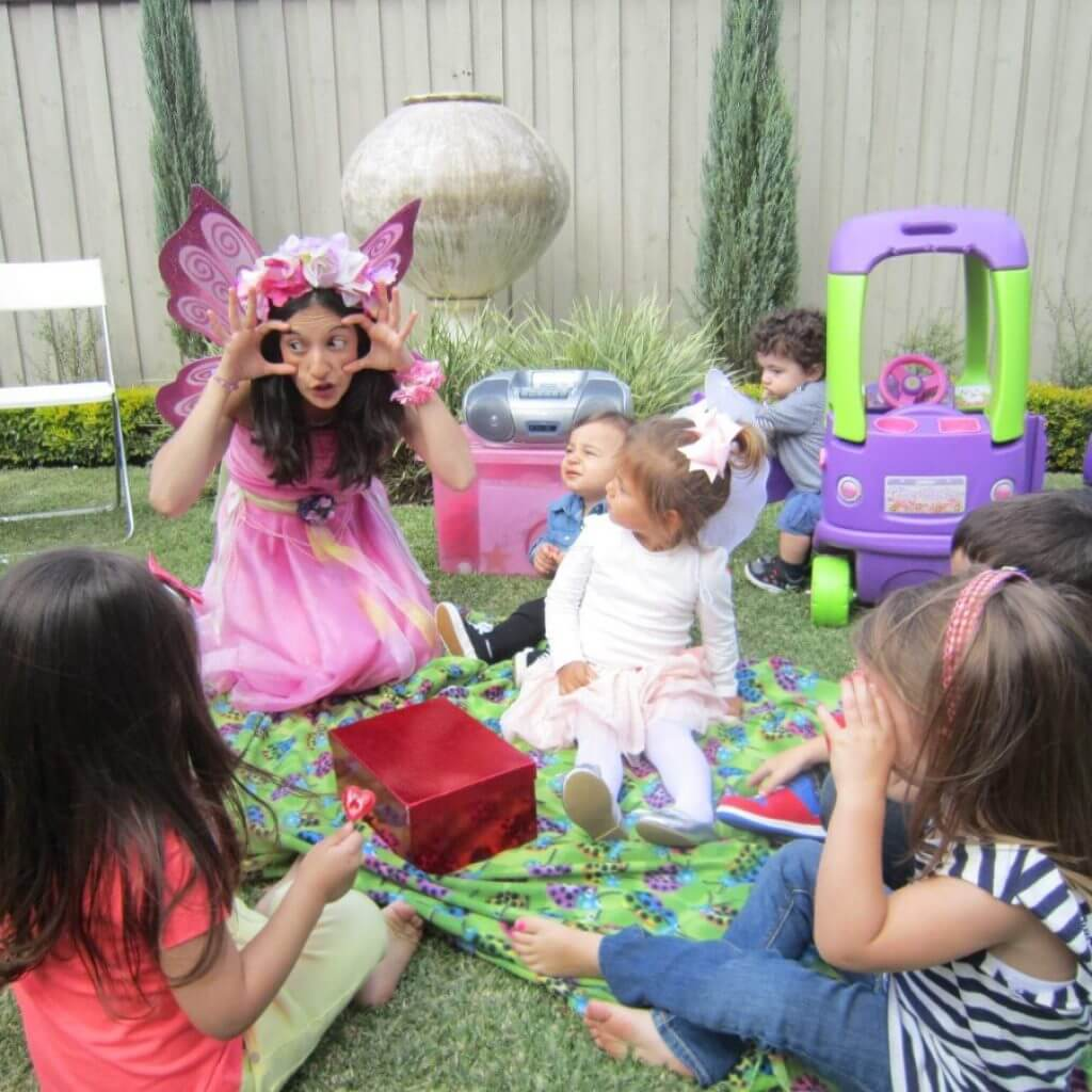 Fairy sitting in a group
