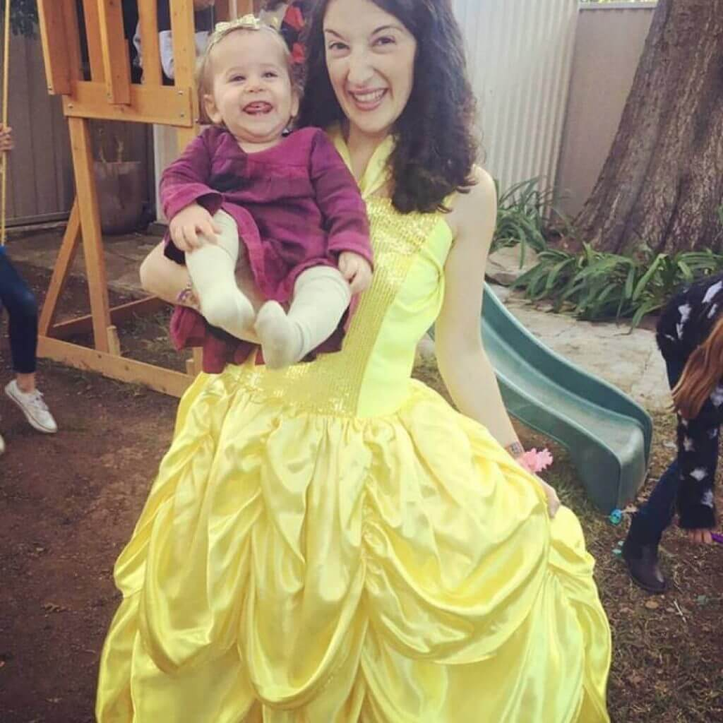 Princess Belle with child
